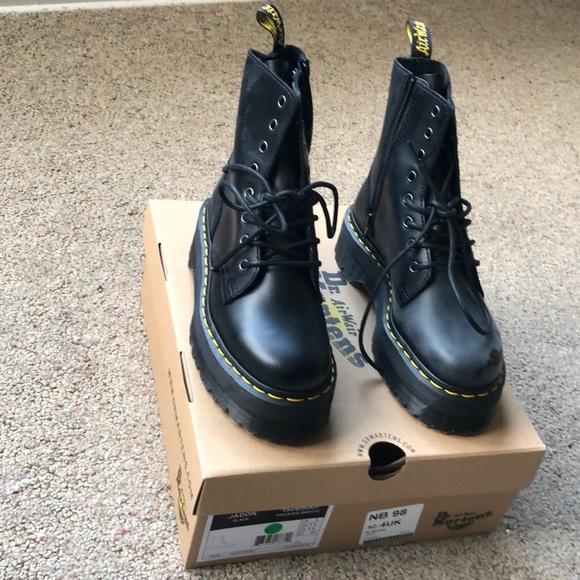 0c2a2ba07a22e1 Dr. Martens Women s Jadon Platform Leather Boot